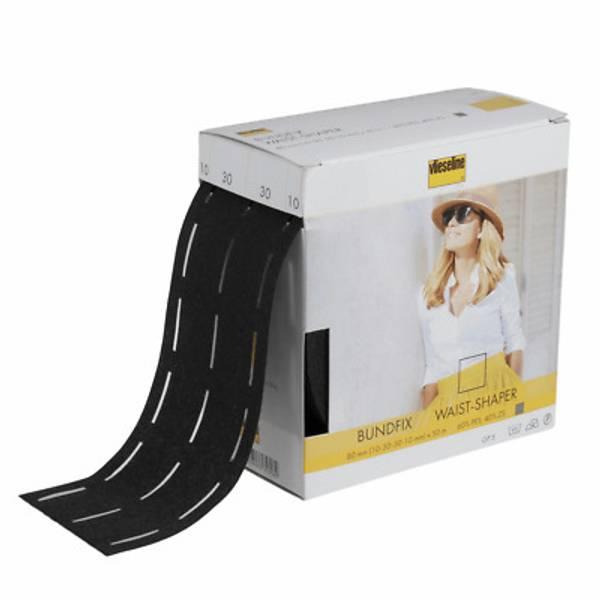 Bilde av 2 m Sømfix til linning - linningsinnlegg til stryking, sort