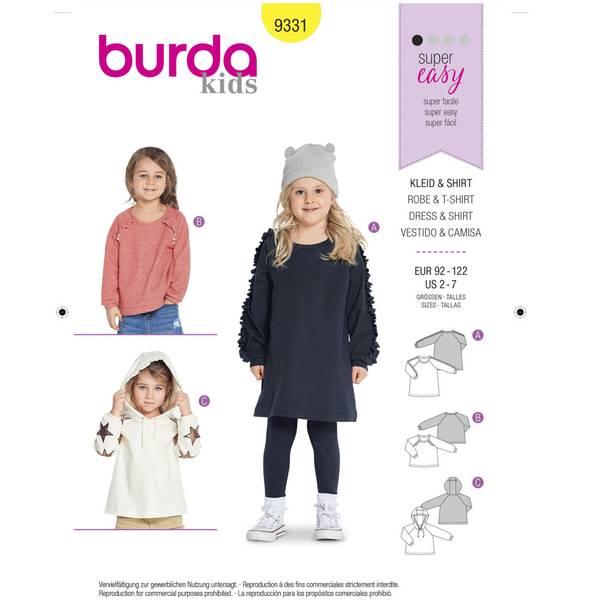 Bilde av 9331 - Burda - hettegenser, genser, kjole med flæser