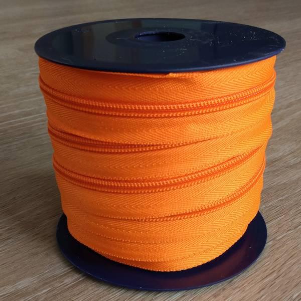 Bilde av Spiralglidelås - 6 mm metervare - oransje