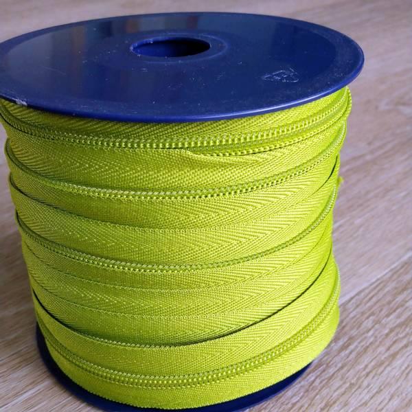 Bilde av Spiralglidelås - 6 mm metervare - limegrønn