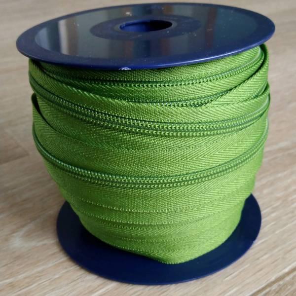 Bilde av Spiralglidelås - 6 mm metervare - grønn