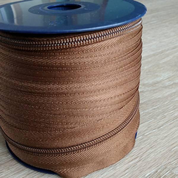 Bilde av Spiralglidelås - 6 mm metervare - brun