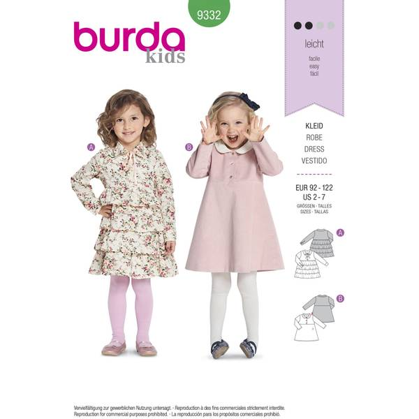 Bilde av 9332 - Burda - kjole