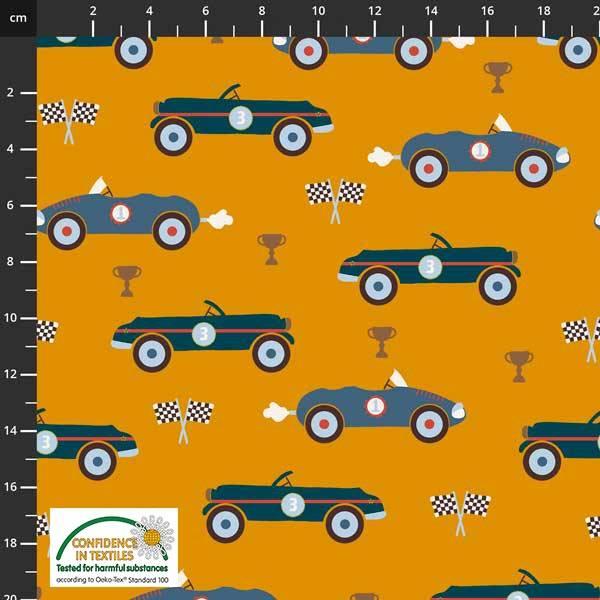 Bilde av Avalana Isoli - 6 cm grå biler på oransje