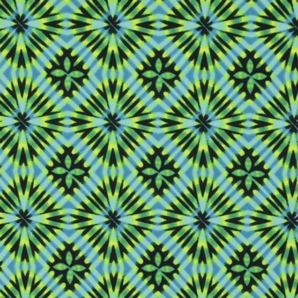 Bilde av Sport & Bad - lycra, 1-3 cm mønstret - grønn
