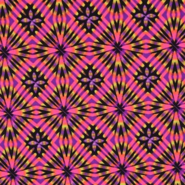 Bilde av Sport & Bad - lycra, 1-3 cm mønstret - sterkrosa