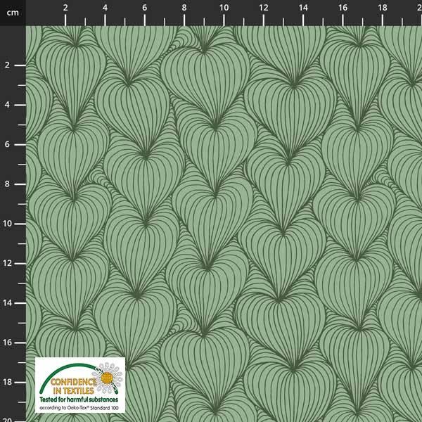 Bilde av Avalana Isoli - 4 cm dusgrønn mønstret
