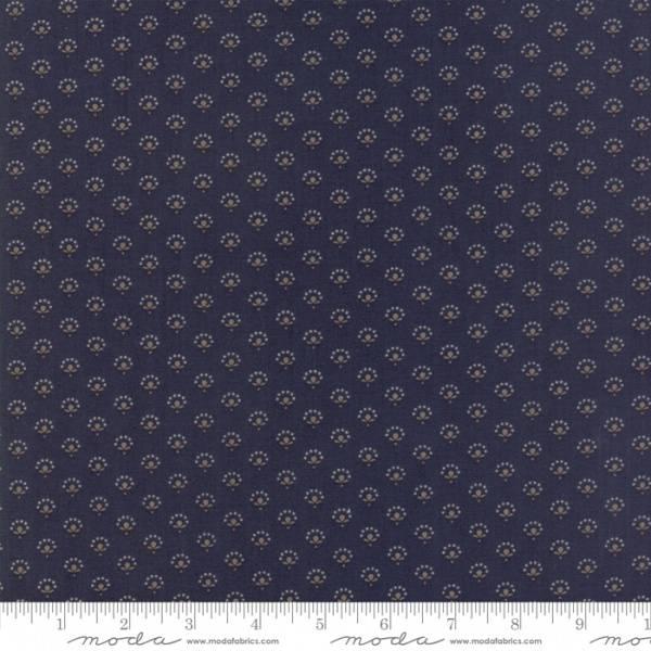 Bilde av 50 cm Regency Blues - 6mm mønster på mørkblå