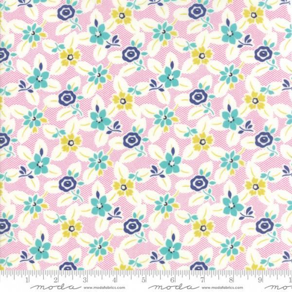 Bilde av Beach Road - 4 cm flerfargete blomster på offwhite