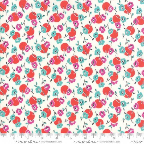Bilde av Beach Road - 15 mm flerfargete blomster og dots på offwhite