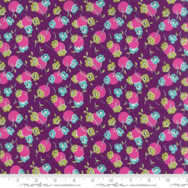 Bilde av Beach Road - 15 mm flerfargete blomster og dots på lilla