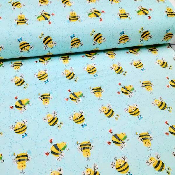 Bilde av Flanell - 3,5 cm bier på lys aqua