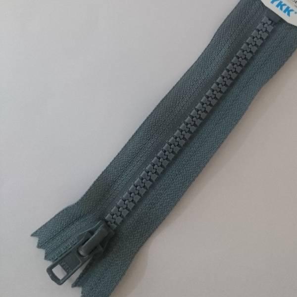 Bilde av YKK, grå, Vislon, ikke delbar glidelås