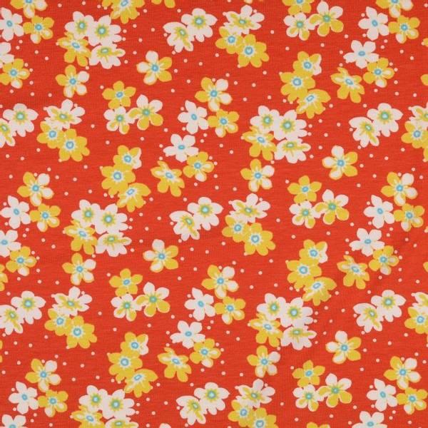 Bilde av Viskosejersey - 4 cm blomst på lysrød