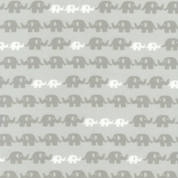 Bilde av Flanell - 3 cm varmgrå elefant på lysgrå