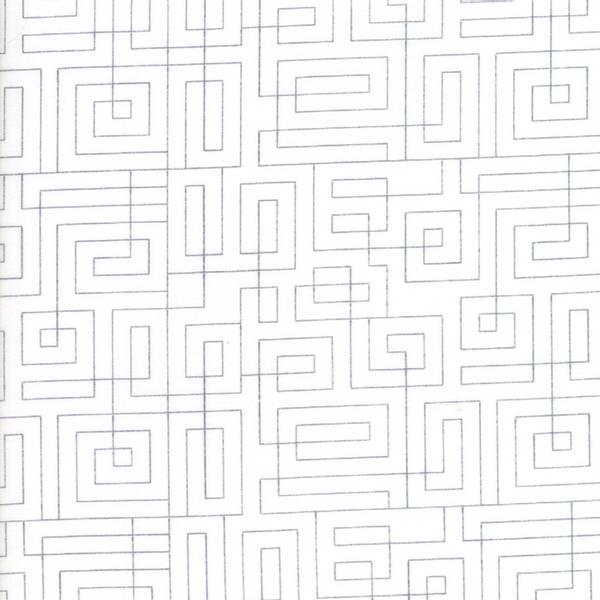 Bilde av Thrive - geometrisk grå mønster på offwhite, 5 mm avstand