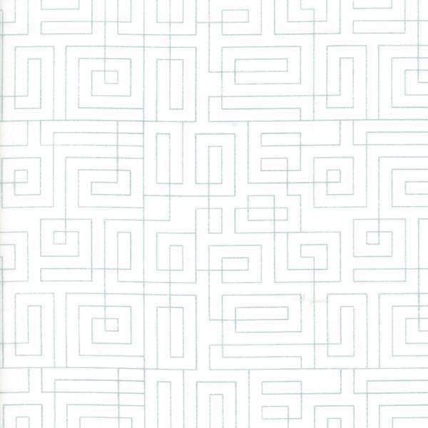 Bilde av Thrive - geometrisk aqua mønster på offwhite, 5 mm avstand