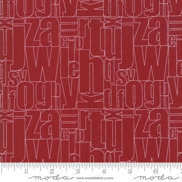 Bilde av Flourish - 15-30 mm skrift på mørk rød