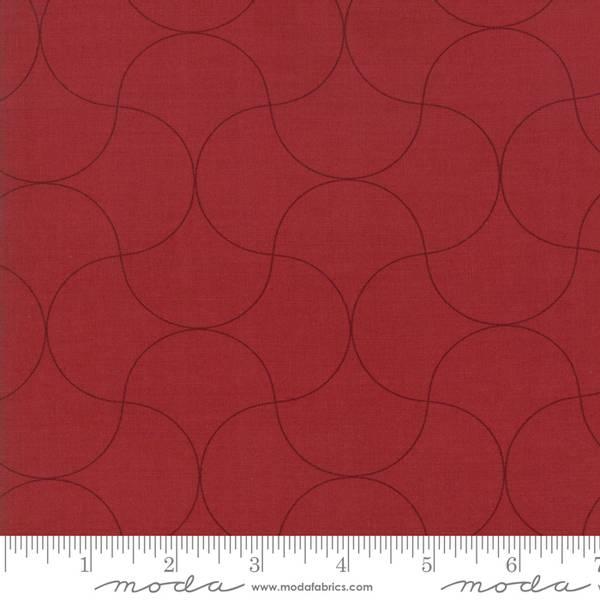 Bilde av Flourish - 4 cm bølgemønster på mørk rød