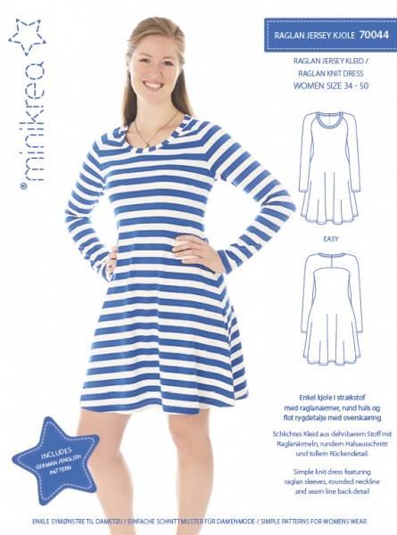 Bilde av Minikrea 70044 - Raglan kjole til stretchstoff, easy, 34-50