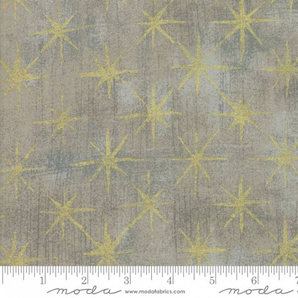 Bilde av Grunge - Seeing Stars metallic - 3 cm gull stjerner på grå