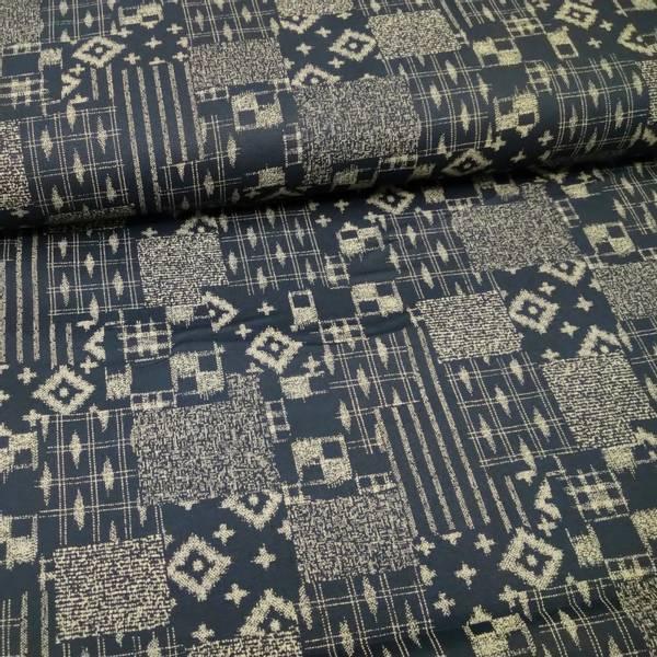 Bilde av Indigo Sashiko - mørk marine m patchwork mønster