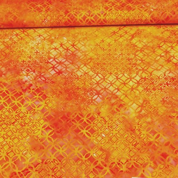 Bilde av Celebration - gul-oransje 3 cm sirklet mønster