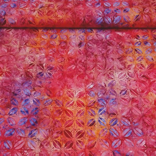 Bilde av Celebration - rødoransje-rosa-lilla-blå 6 cm blomst