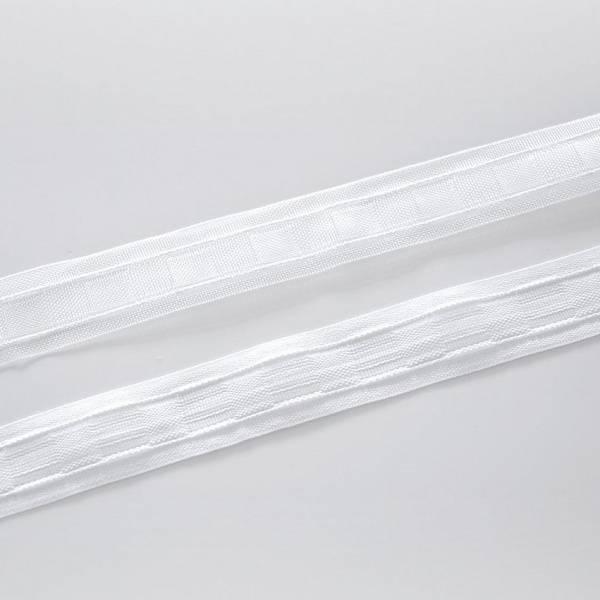 Bilde av Rynkebånd, allminnelig, hvit, 3,3 cm bred
