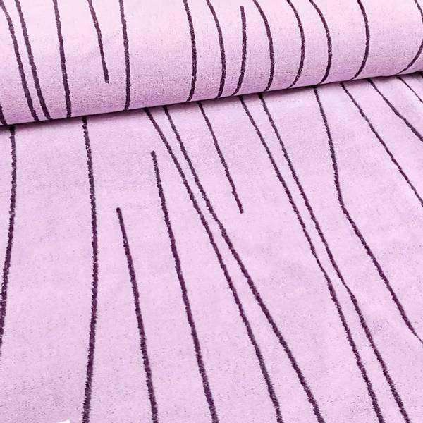 Bilde av Stretchfrotté - lyslilla m lilla streker