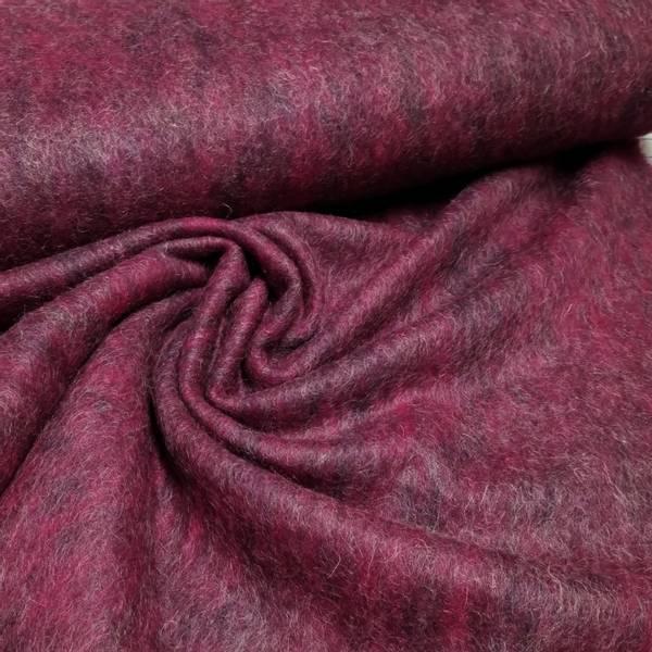 Bilde av 1,2 m Tovet strikket ull - mørk bringebær mønstret