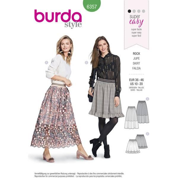 Bilde av 6357 - Burda - skjørt, lang & medium