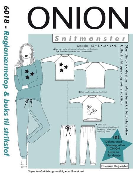 Bilde av Onion 6018 - raglanermetopp og bukse i stretchstoff