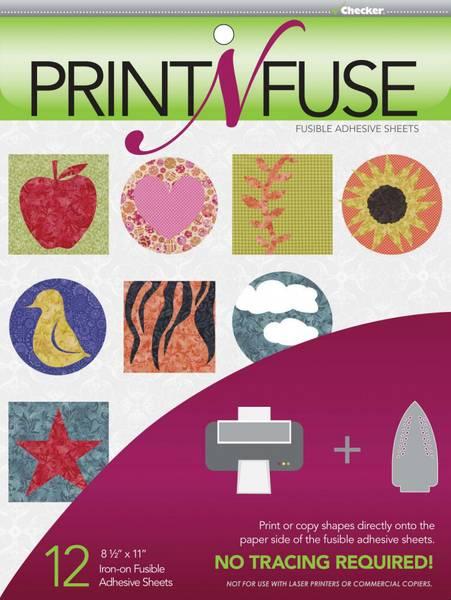 Bilde av Print'n'Fuse - 12 st. Vliesofix ark til blekkskriver