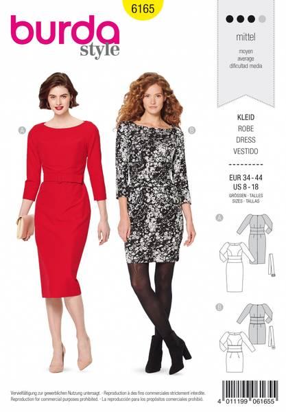 Bilde av 6165 - Burda - smal pen raglan-kjole