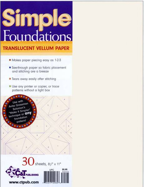 Bilde av Simple Foundations - paper piecing