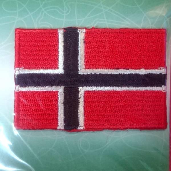 Bilde av Symerke med lim på, norsk flagg 42 x 62 mm