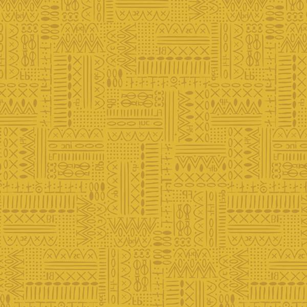 Bilde av Hooked - heldekkende mønster på oker, ca 1 cm