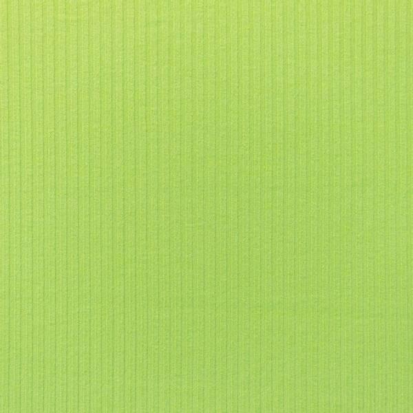 Bilde av Ribbestrikket bomullsjersey - limegrønn