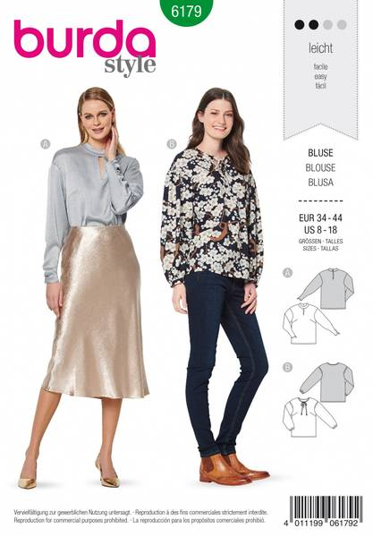Bilde av 6179 - Burda - bluse med variasjoner
