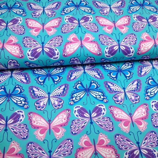 Bilde av Emilia Dreams On - 8 cm sommerfugl på turkis