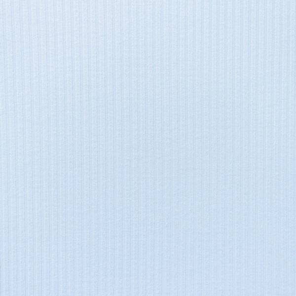 Bilde av Ribbestrikket bomullsjersey - lysblå