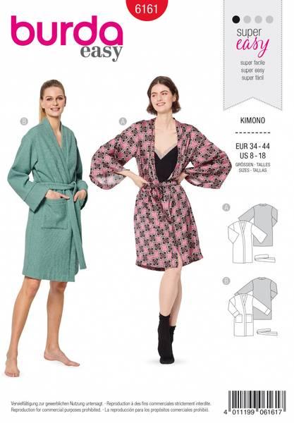 Bilde av 6161 - Burda - kimono/ badekåpe