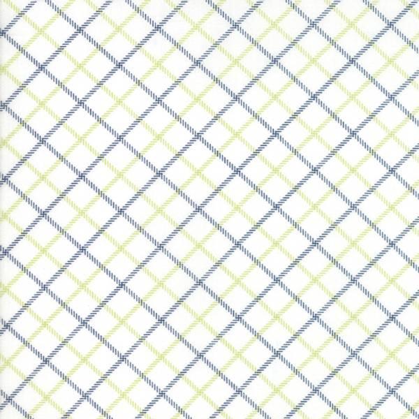 Bilde av Smitten - diagonale 10 mm sorte & limegrønne ruter på offwhite