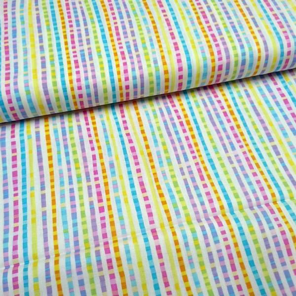 Bilde av Let's Tweet/ Styx - 5 mm flerfargete striper på hvit