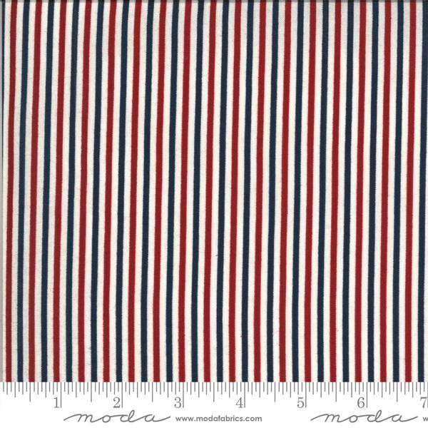 Bilde av American Gatherings - 2 mm rød-blå-offwhite striper