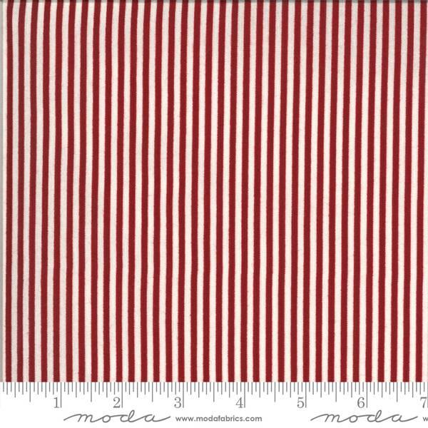 Bilde av American Gatherings - 2 mm rød-offwhite striper