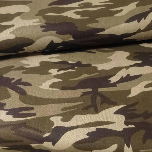 Bilde av Army Twill - camouflage grønn sort, ca 10 cm flekkete