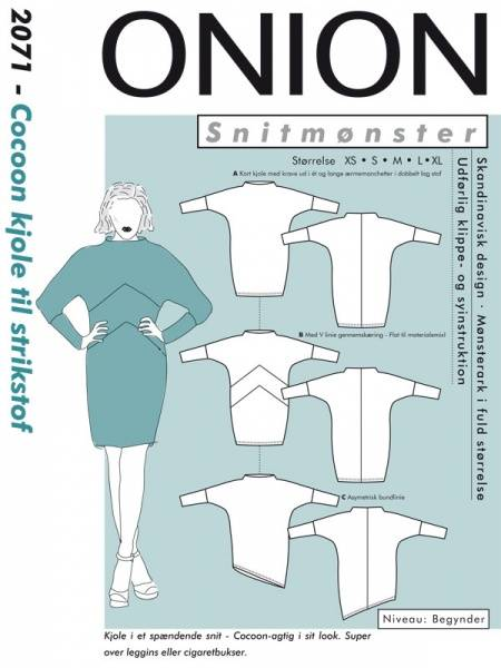 Bilde av Onion 2071 - Cocoon kjole til stretchstof