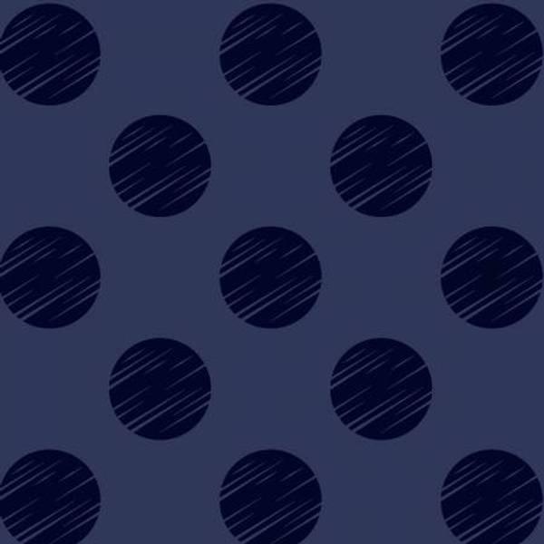 Bilde av Navy Dot 108in Quilt Back, 5 cm prikker på mørkblå